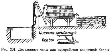 Деревянные чаны для переработки коньячной барды