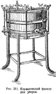 Керамический фильтр для уксуса